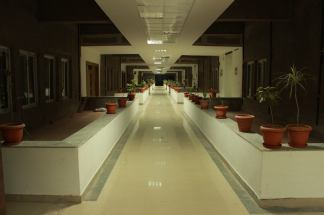 Inside the Academic Block - Classes are on either side
